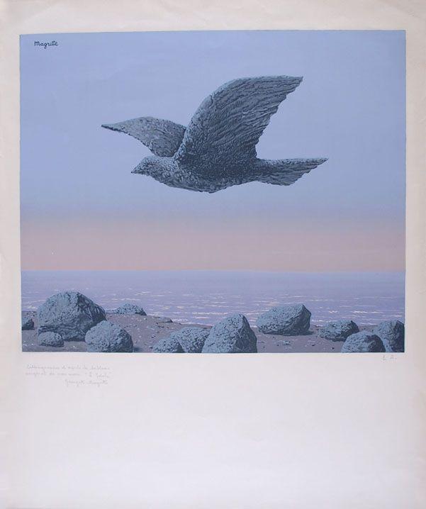 Lithograph Magritte - L'Idole - Rock Bird