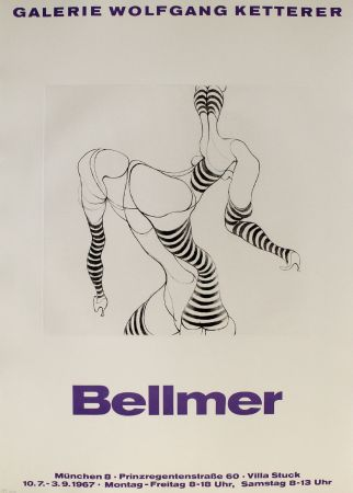 Etching Bellmer - Liegende In Strümpfen