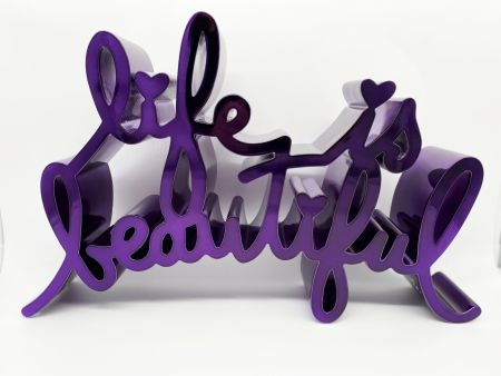Relief Mr Brainwash - Life Is Beautiful - Hard Candy (Purple)