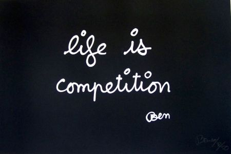 Screenprint Vautier - Life is compétition