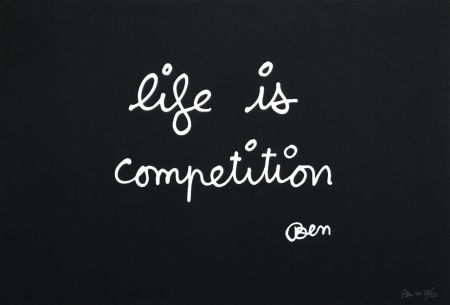Screenprint Vautier - Life is competition