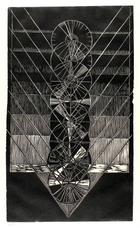 Linocut Klien,  - Light in Glass I