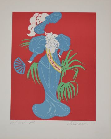 Lithograph Indiana - Lilian Russell - Mother of us all portfolio