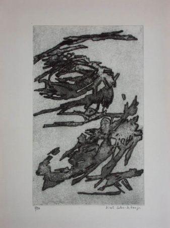 Engraving Celan Lestrange - L'inachevé 1