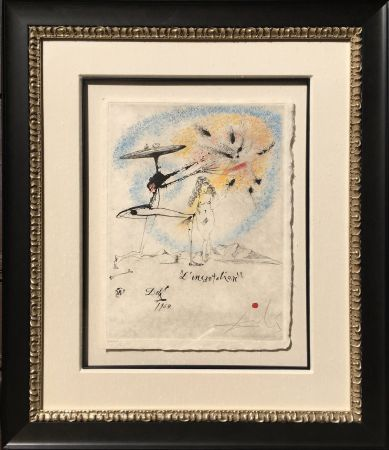 Etching Dali - L'Incantation from the Les Rois Mages Portfolio