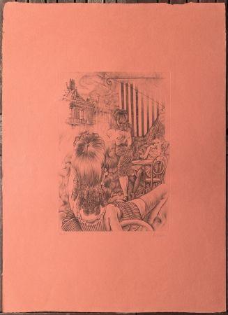 Engraving Bellmer - L'incendie