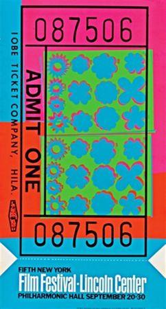 Screenprint Warhol - Lincoln Center Film Festival Ticket (Feldman & Schellmann II.19)