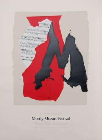 Lithograph Motherwell - Lincoln Center Mostly Mozart, 25th Anniversary