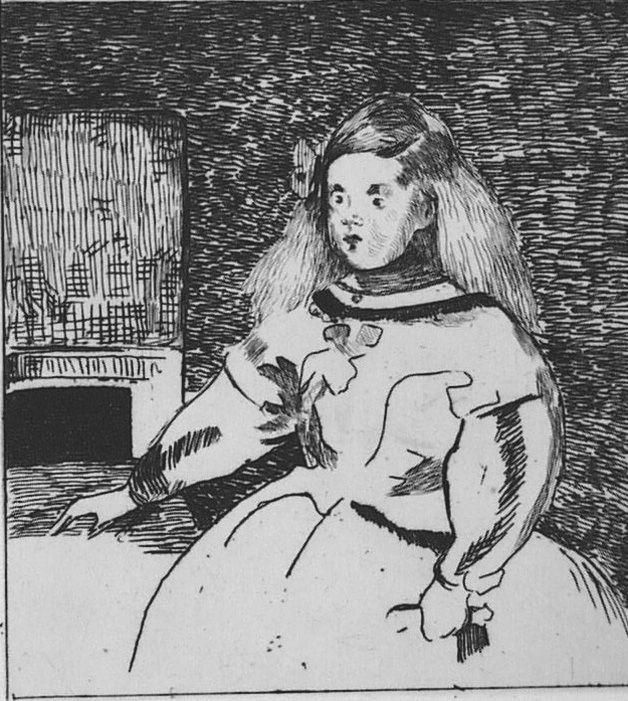 Engraving Manet - L'infante Marguerite