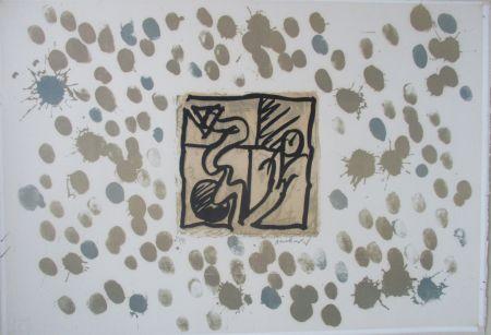 Lithograph Alechinsky - LinoLitho IV