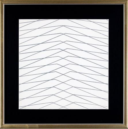 Screenprint Morellet - L'instabilità come condizione umana