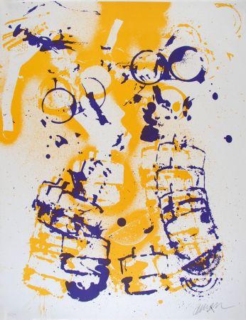 Lithograph Arman - L'intérieur des choses V : Le Masque à Gaz