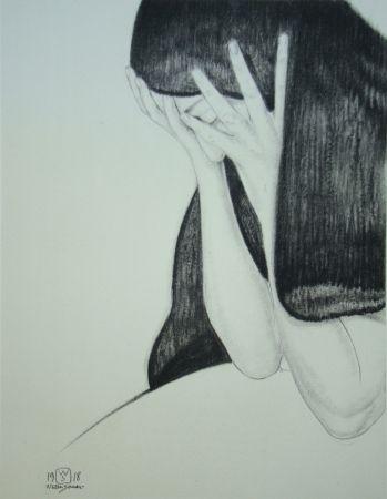 Lithograph Sauer - L'inutile regret
