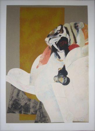 Lithograph Pomar - Lion