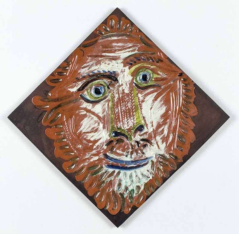 Ceramic Picasso - Lion's Head, 1968-1969