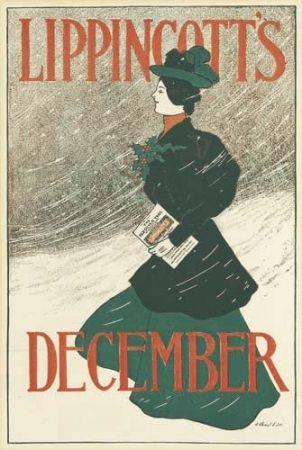 Lithograph Gould - Lippincott's December