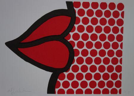 Screenprint Lichtenstein - Lips