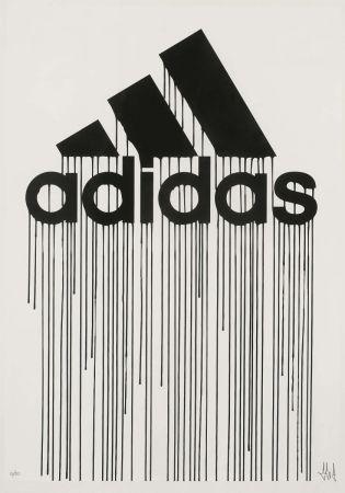 Screenprint Zevs - Liquidated Adidas