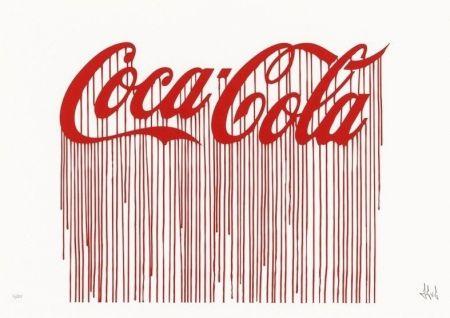 Screenprint Zevs - Liquidated Coca-Cola