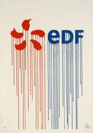 Screenprint Zevs - Liquidated EDF