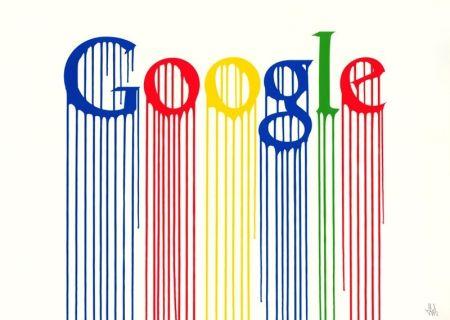 Screenprint Zevs - Liquidated Google