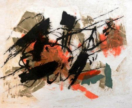Lithograph Afro - L'Isola del Giglio