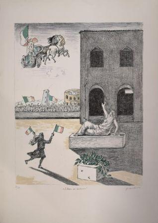 Lithograph De Chirico - L'Italia del Centenario