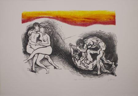 Lithograph Guttuso - L'Italia del centenario