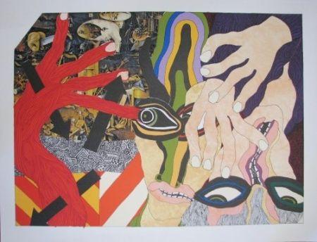 Lithograph Tola - Lithograph-collage