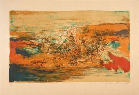 Lithograph Zao - Lithograph, 1973