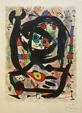Lithograph Miró - Lithograph for the County Museum of Art, Los Angeles