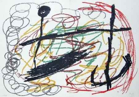 Lithograph Miró - Lithograph IX from Miró, Obra Inedita Recent, 1964