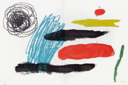 Lithograph Miró - Lithograph VI from Miró, Obra Inedita Recent, 1964