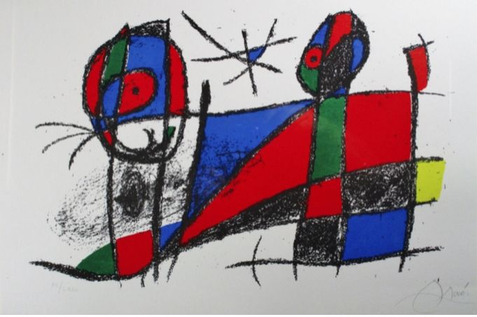 Lithograph Miró - Lithograph Vi From Vol. Ii