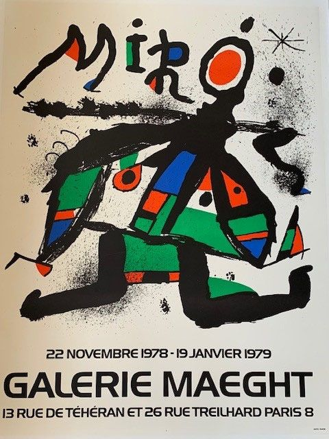 Lithograph Miró - Lithographic poster