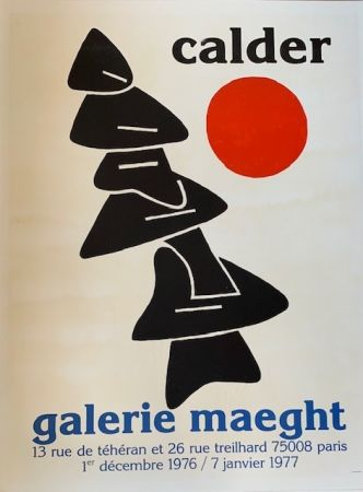 Lithograph Calder - Lithographic poster