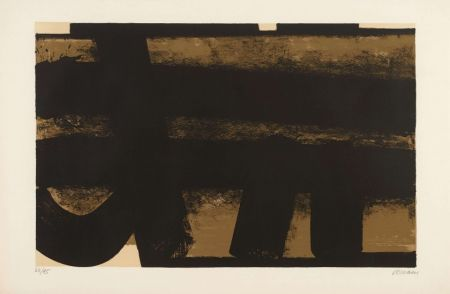 Lithograph Soulages - Lithographie 35 – 1974