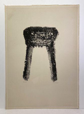 Lithograph Michaux - Lithographie en noir