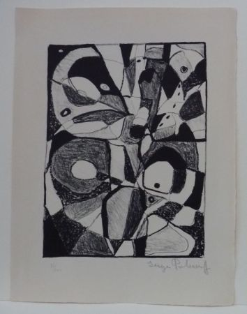 Lithograph Poliakoff - Lithographie en noir n°1