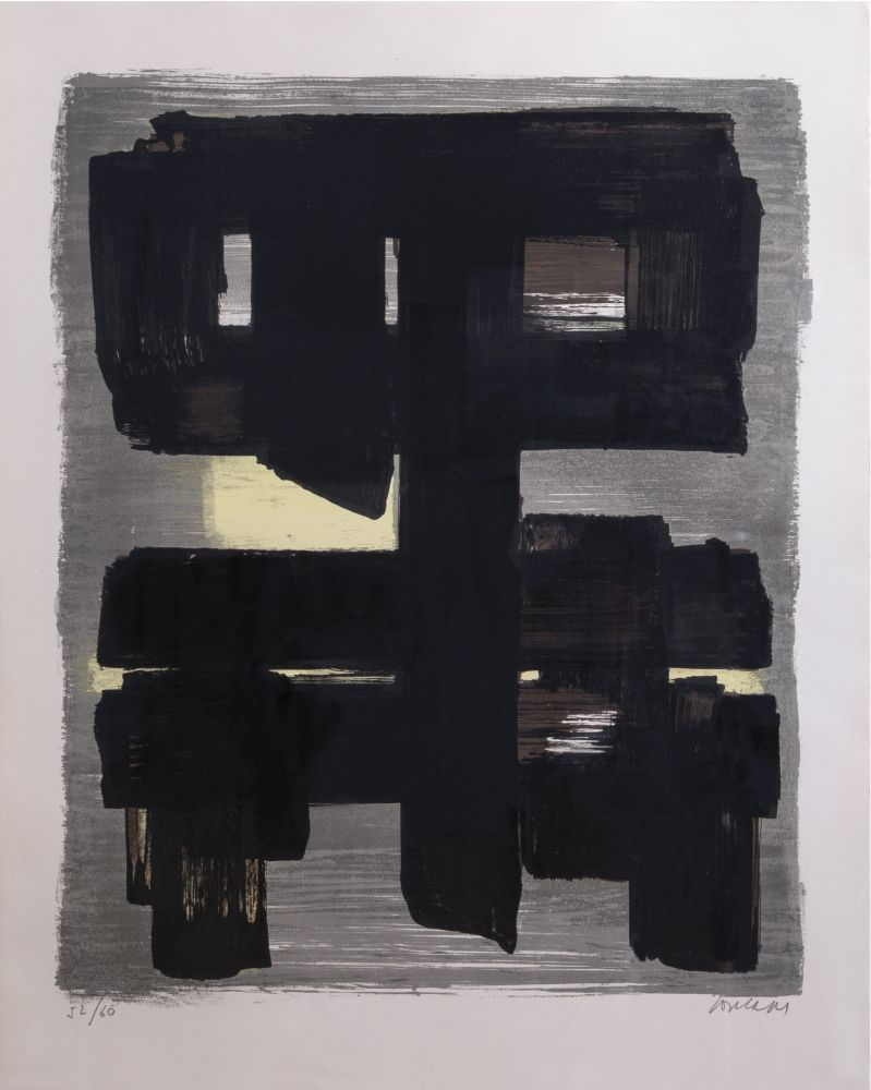 Lithograph Soulages - Lithographie n°1