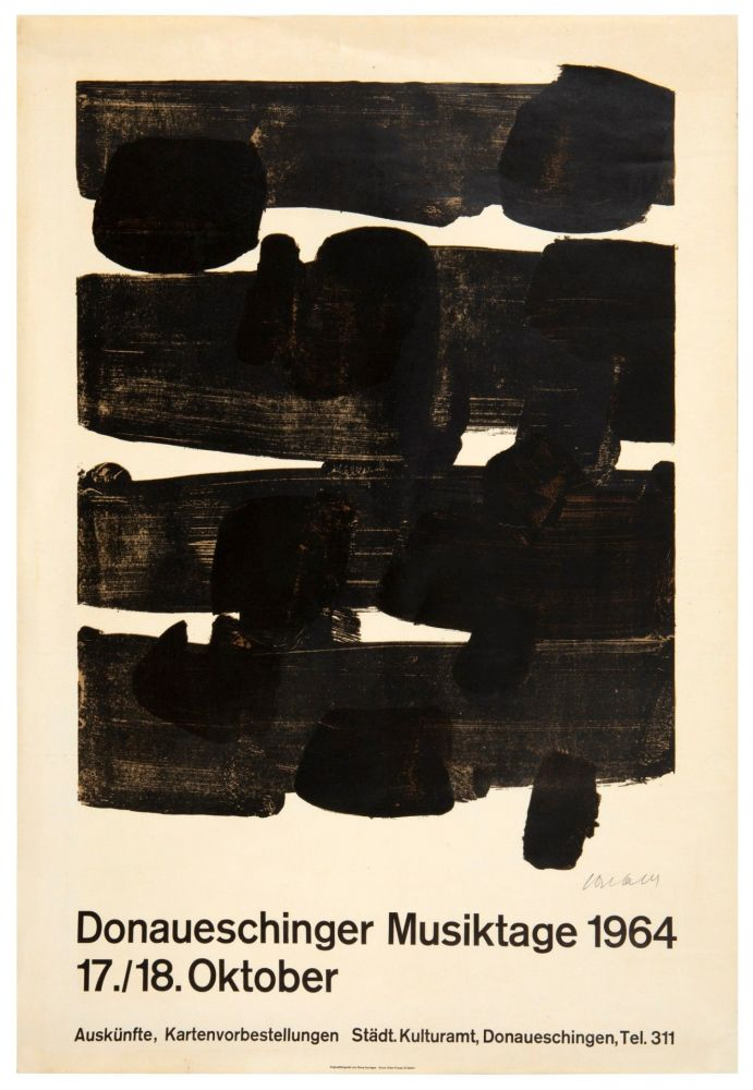 Lithograph Soulages - Lithographie n°12, 1964. Signée.
