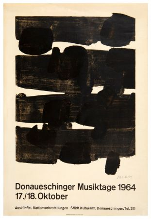 Lithograph Soulages - Lithographie n°12, 1964. Signée.