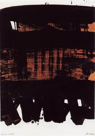 No Technical Soulages - Lithographie n°22