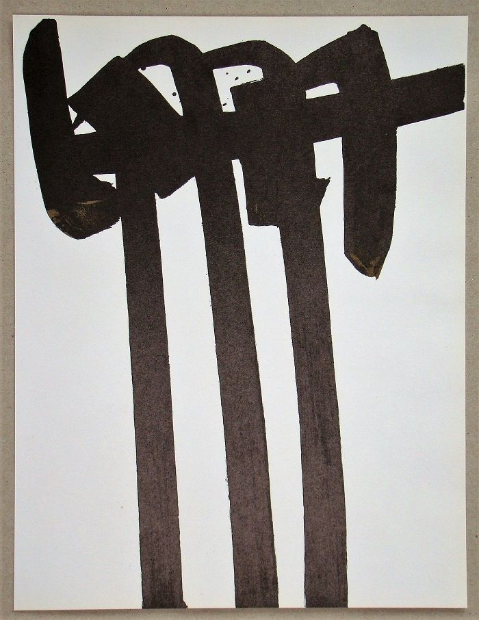 Lithograph Soulages - Lithographie N°28