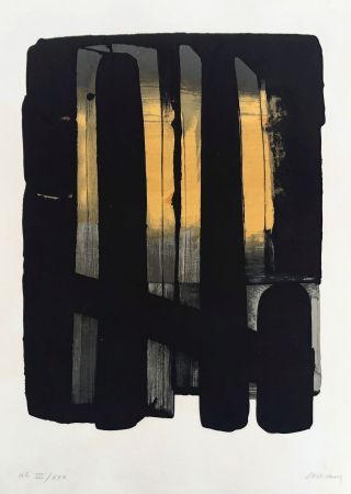 Lithograph Soulages - Lithographie n°38