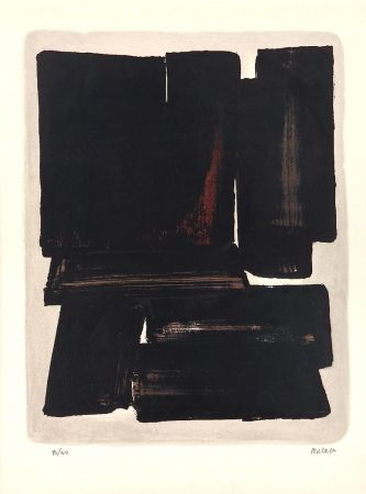 Lithograph Soulages - Lithographie N°7a