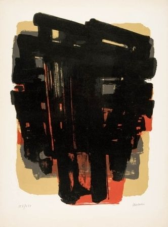 Lithograph Soulages - Lithographie n°8