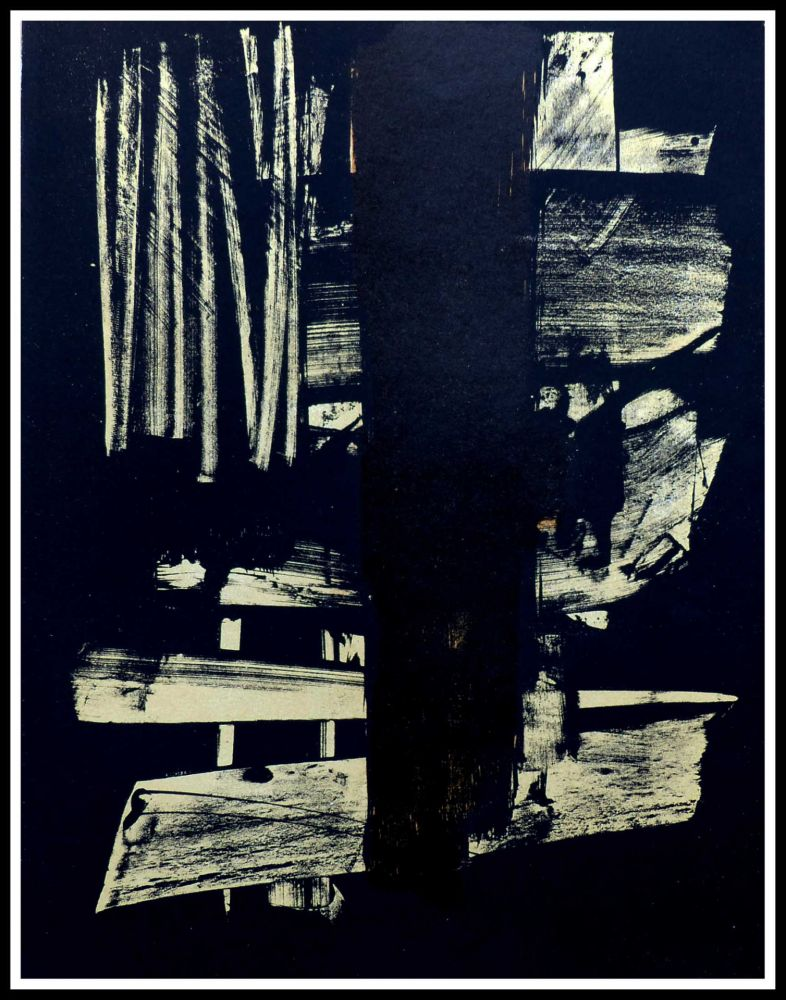 No Technical Soulages - Lithographie N°9