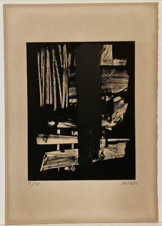 Lithograph Soulages - Lithographie n° 9, 1959. Signée et numérotée.