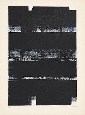 Lithograph Soulages - Lithographie No. 32a